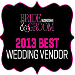 2013 Washingtonian Best Wedding Vendor