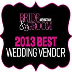 2013 Washingtonian Best Wedding Vendor